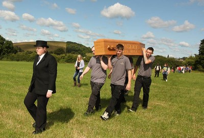 Brinsley coffin walk event