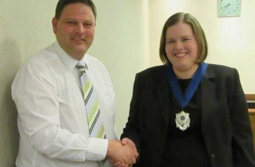Joanne becomes President of local funeral branch
