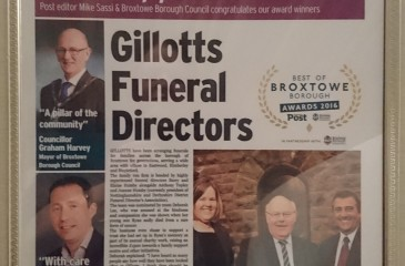 Gillotts win Best Family Business Award