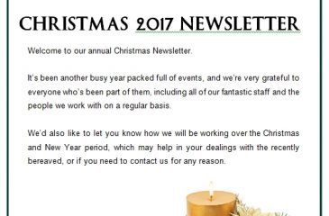 Christmas Newsletter 2017