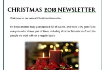 Our Christmas 2018 Newsletter